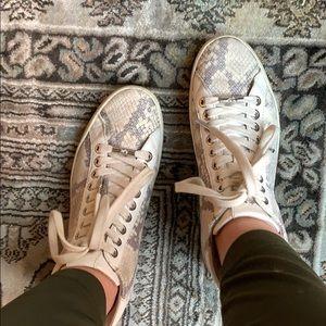 Michael Kors snake print sneakers